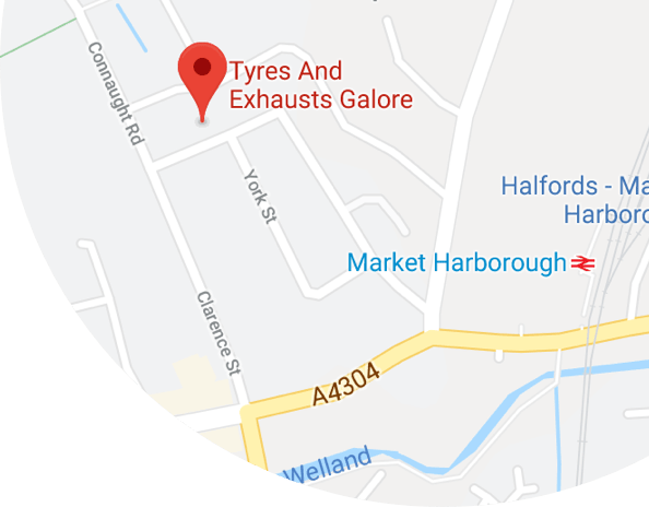 Tyres Galore Market Harborough Location