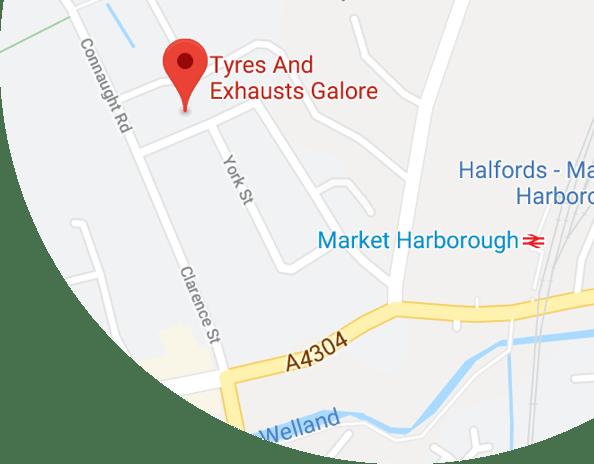 Tyres Galore Market Harborough Location