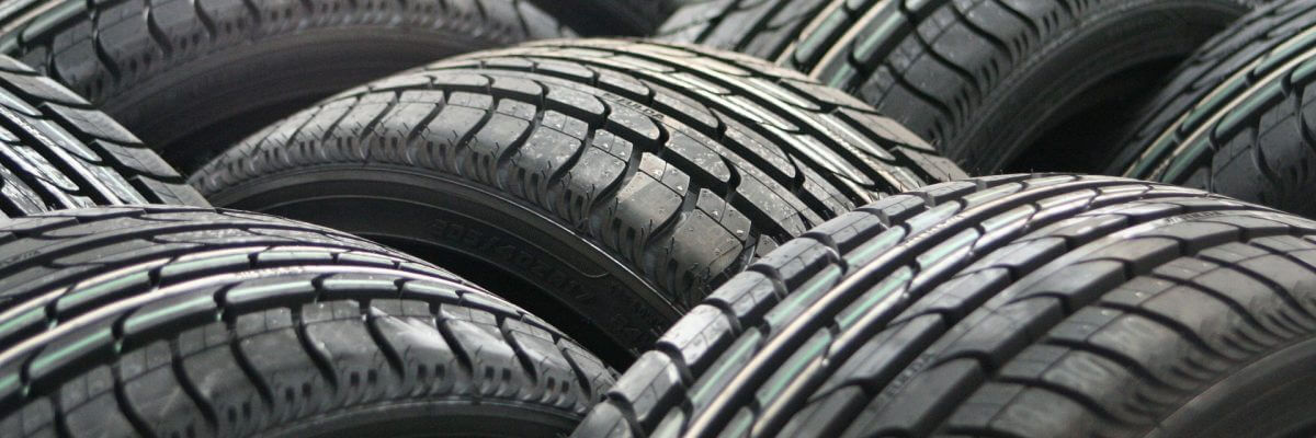 Large stock of tyres