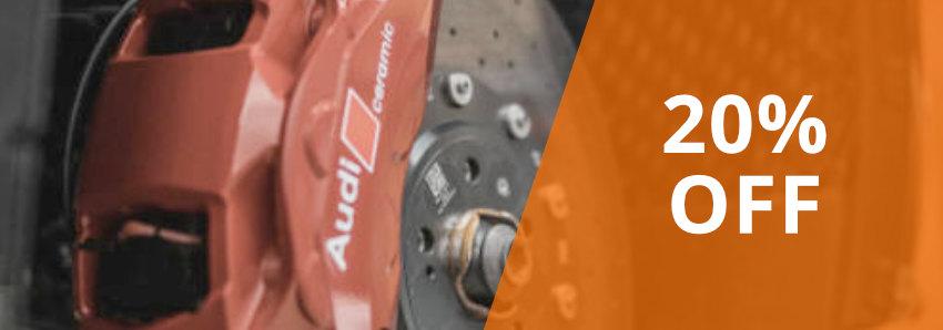 20% Off Brakes & Brake Pads