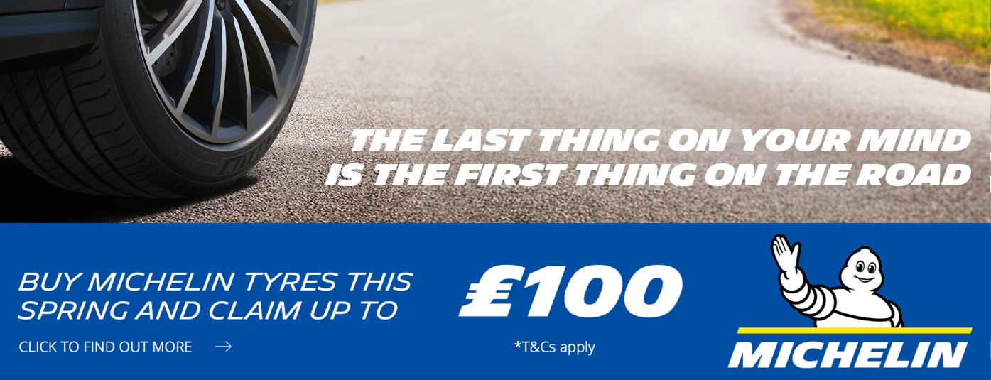 Michelin Tyres – Up To £100 Cash Back